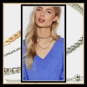 New! Nasty Gal multilayered Necklace